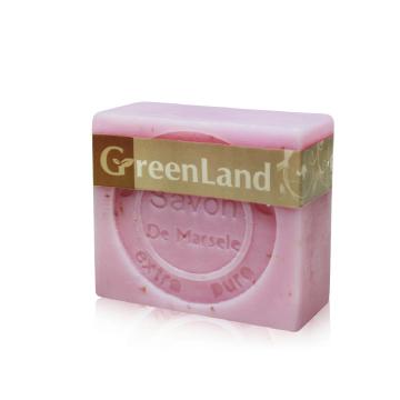 【綺緣 】GreenLand橄欖油玫瑰馬賽皂90g(6入)
