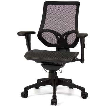 aaronation 愛倫國度 - JQ-D7-黑網-尼龍腳-線控式辦公椅