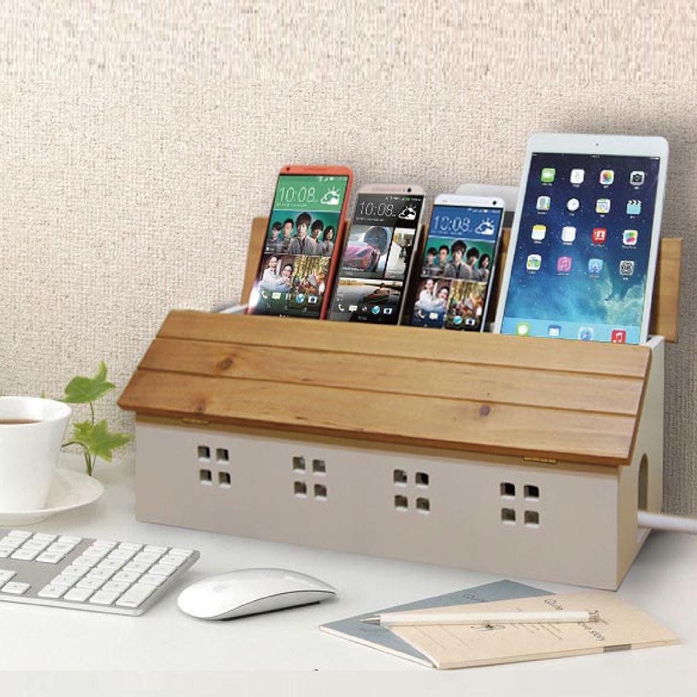 (鄉村趣)古木調加強版電線收納盒