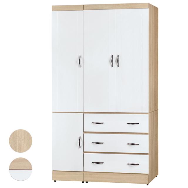 Boden-莉卡3.8尺四門三抽衣櫃-兩色可選