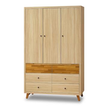【時尚屋】[5U7]瑪莎栓木色4x7尺衣櫥5U7-158-530