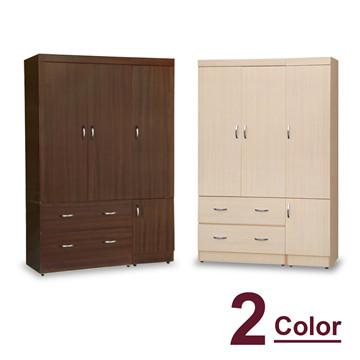 【時尚屋】[5U7]無敵4x6尺衣櫥5U7-180-461兩色可選
