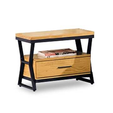 【時尚屋】[NM7]工業風實木床頭櫃NM7-27-2免運費/免組裝