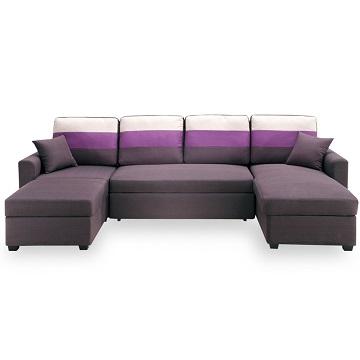 【時尚屋】[MT7]丹尼絲深咖色大L布沙發床組MT7-326-2免組裝/免運費/沙發床