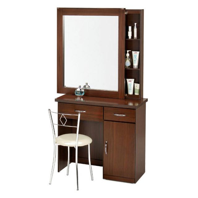 限時降★ 原$4999 Homelike 艾凡收納化妝桌椅組-胡桃