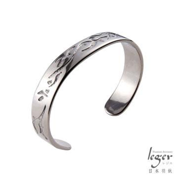 『日本Leger羽鈦』《男人味》純鈦手環